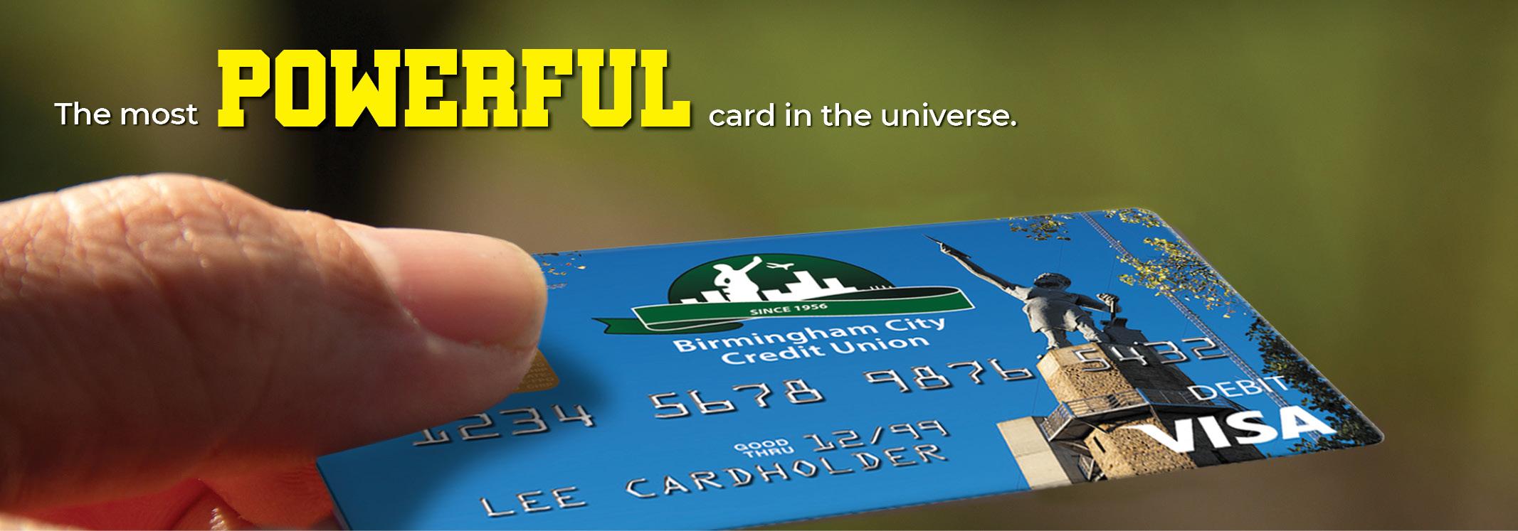 Debit card image slide